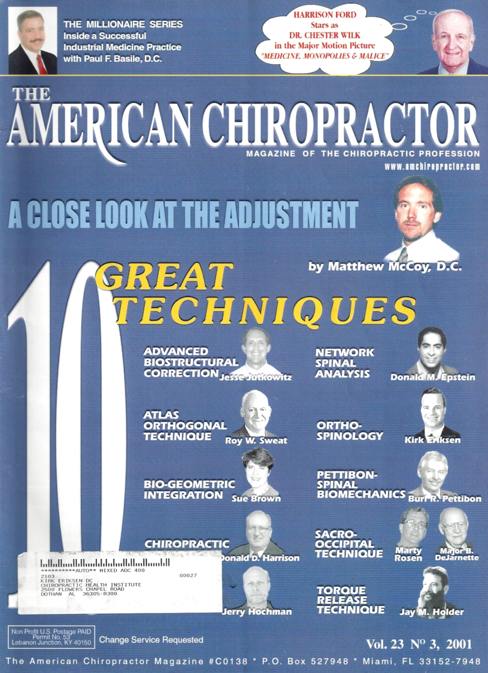 The American Chiropractor Volume 23 Number 3 2001