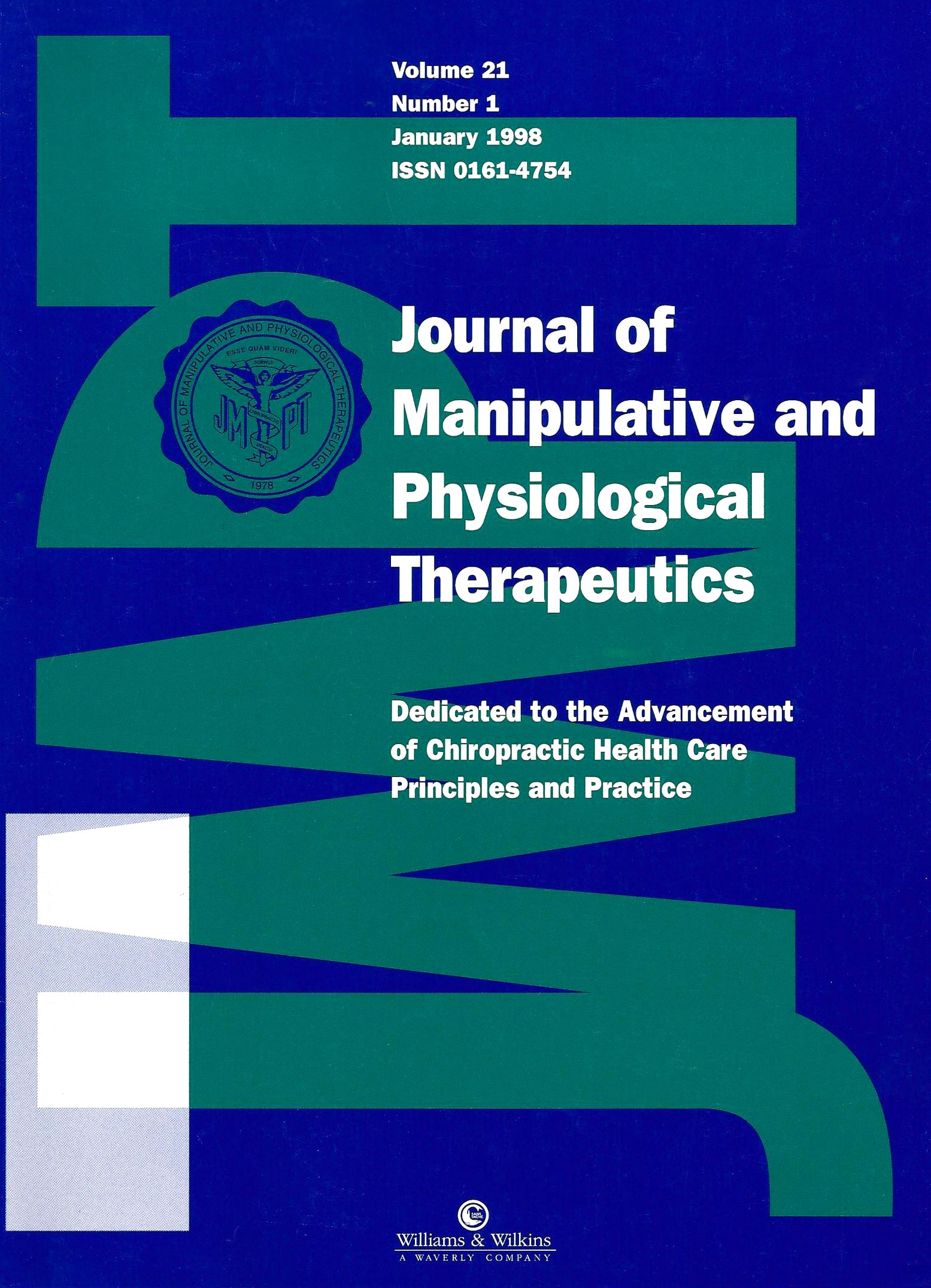 Journal of Manipulative and Physiological Therapeutics research study