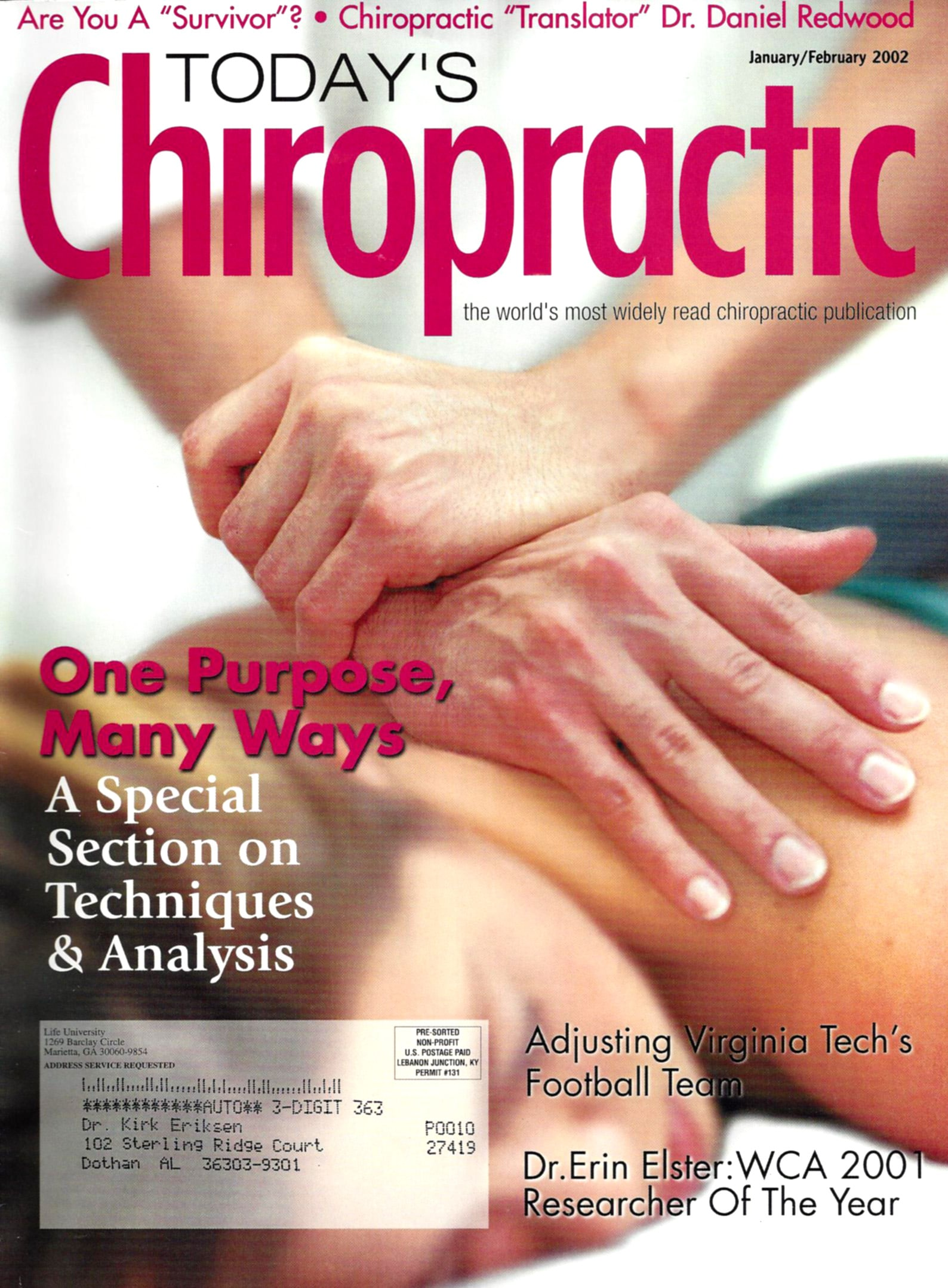 Today's Chiropractic January - February 2002