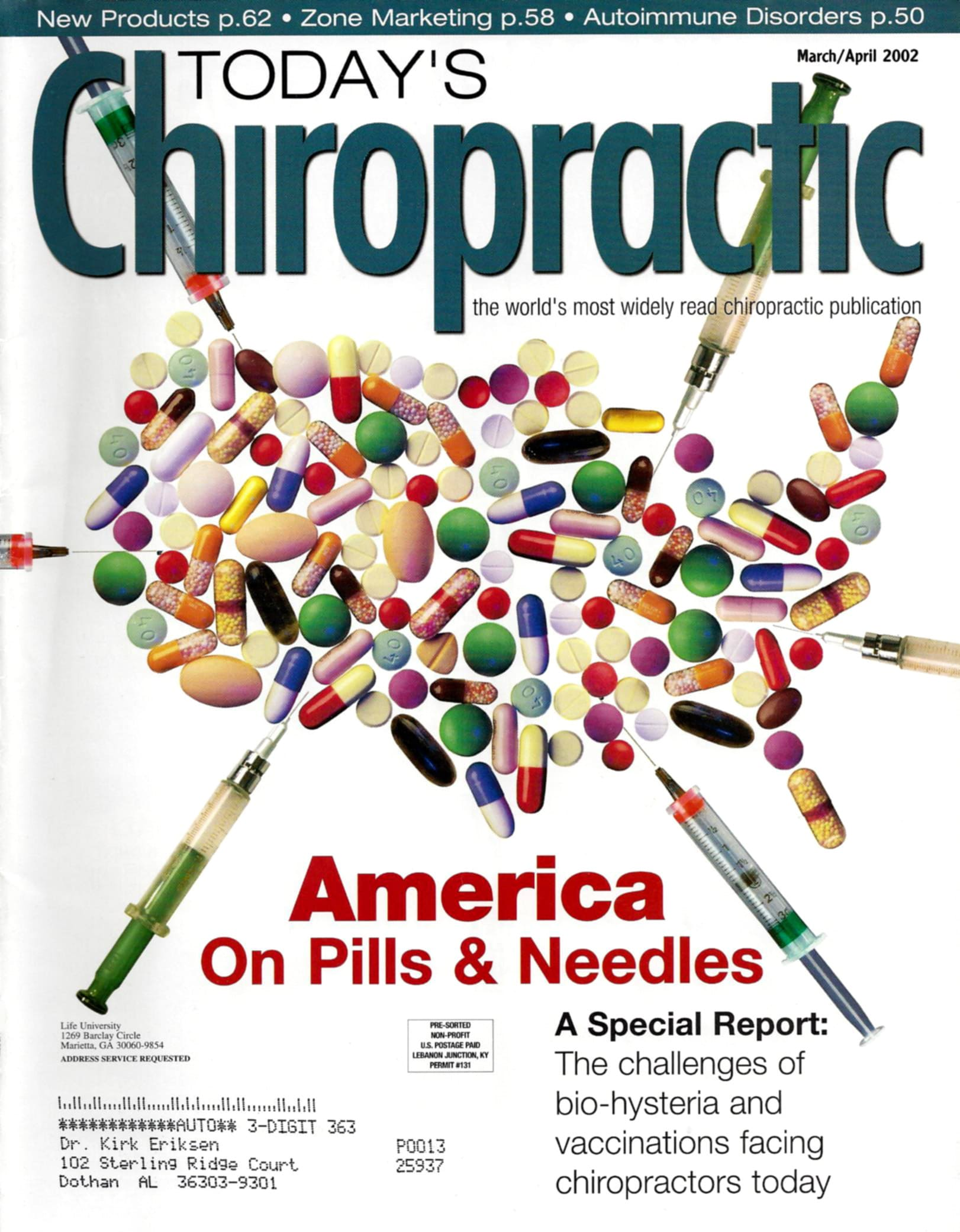 Today's Chiropractic March - April 2002