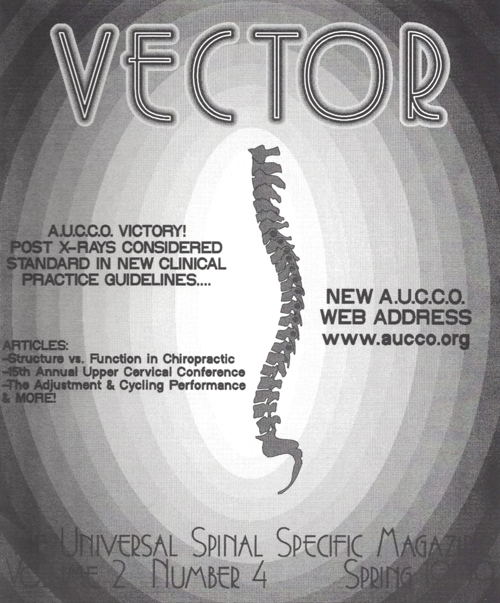 Vector The Universal Spinal Specific Magazine Volume 2 Number 4 Spring 1999